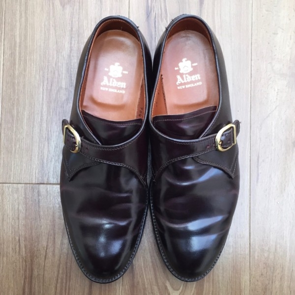 Dark Burgundy Shell Cordovan Monk Strap 954