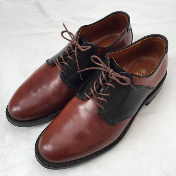Color4×Black Shell Cordovan Plain Toe Saddle Blucher 99551 by Leather Soul (2010)