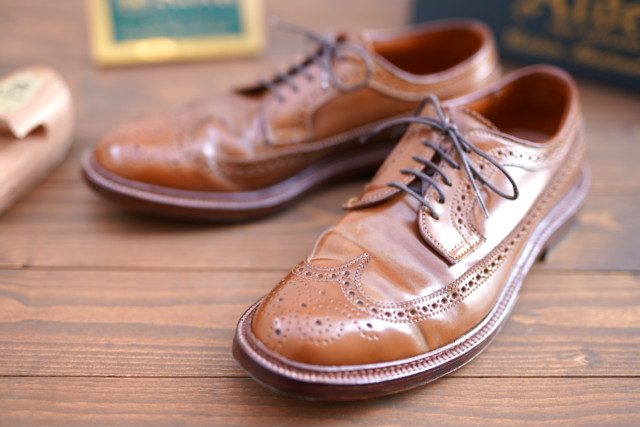 Whiskey Shell Cordovan Long Wing Blucher 97891 by  Alden San Francisco (2016)