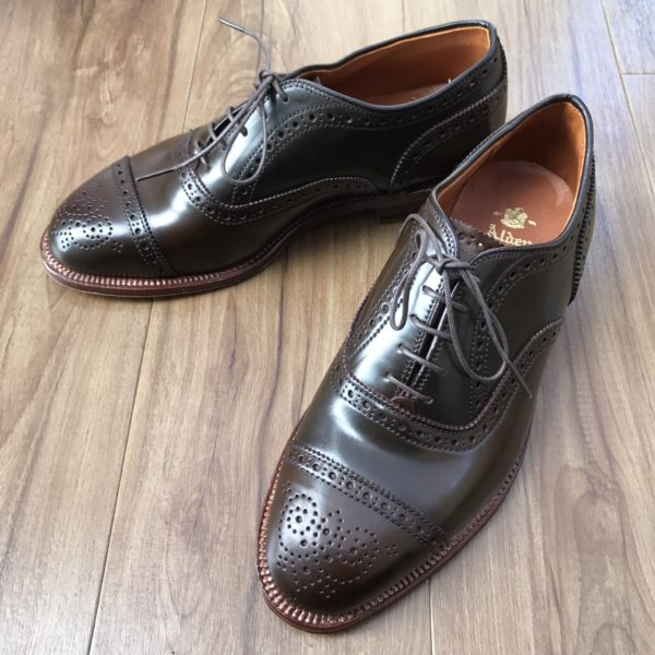 Cigar Shell Cordovan Medallion Cap Toe Balmoral 9084 by Alden of Madison (2015)