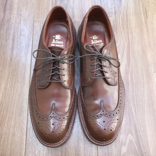 Ravello Shell Cordovan Long Wing Blucher 97506 by Alden of Washington DC (2014)