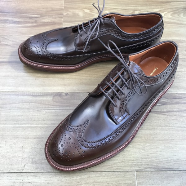 Cigar Shell Cordovan Long Wing Blucher 97894 by The Shoe Mart (2017)