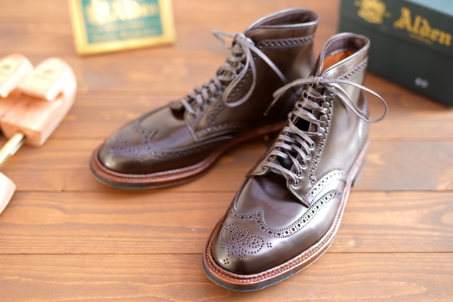 Cigar Shell Cordovan Wing Tip Boot D5911HC by Alden of Madison (2018)