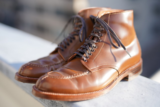 Whiskey Shell Cordovan Tanker Boot A8904H by Unipair (2018)[Worn]