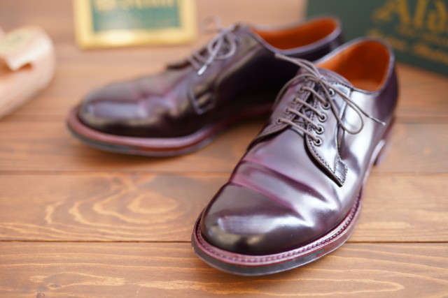 Color8 Shell Cordovan Plain Toe Blucher D8411C by BROGUE [Worn] (2019)