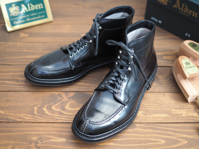Black Shell Cordovan Tanker Boot D7911HC by Brick+Mortar (2017)