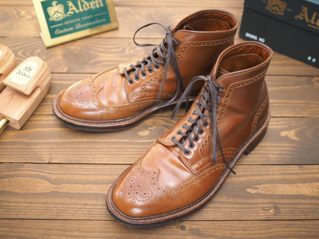 Whiskey Shell Cordovan Wing Tip Boot D5801HC by Alden of Madison (2015)
