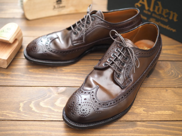 Dark Brown Shell Cordovan Long Wing Blucher 58874 by UNITED ARROWS (2009)
