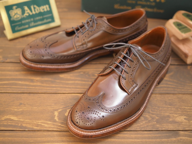 Ravello Shell Cordovan Long Wing Blucher 97504 by Alden San Francisco (2018)