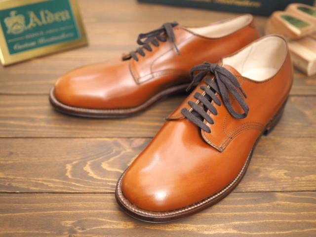 Medium Brown Calf Plain Toe Blucher 49020 by Unipair (2018)