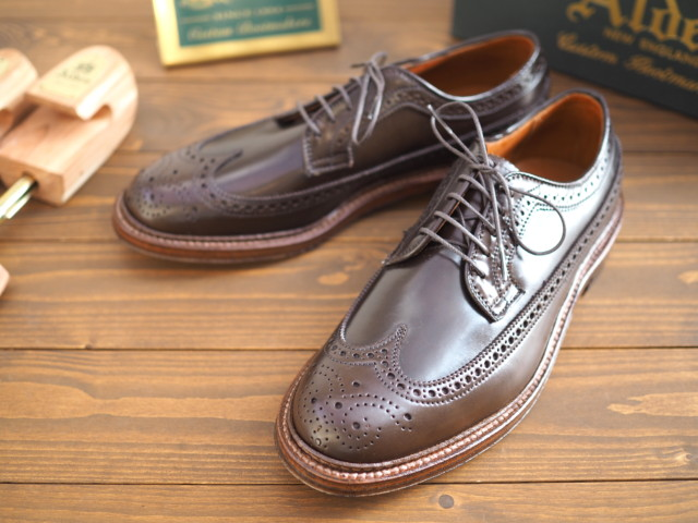 Cigar Shell Cordovan Long Wing Blucher 97894 by  Alden San Francisco (2018)