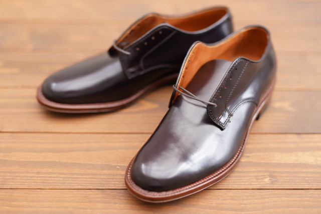 Cigar Shell Cordovan Unlined Plain Toe Blucher A8401F by COLONY CLOTHING (2019)